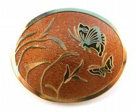 Vintage Butterfly Enamel Brooch By Rivest.